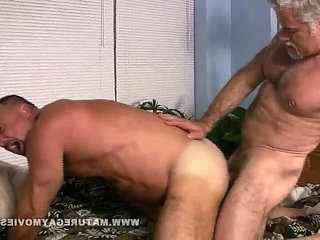 Muscular Silverdaddies Fucking Each Other | fucking   muscular