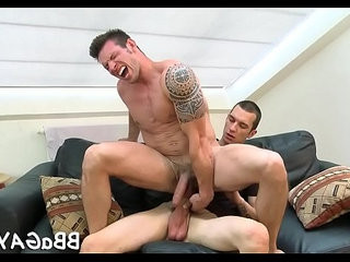 Homosexual chap sure knows how to ride   homosexual  riding