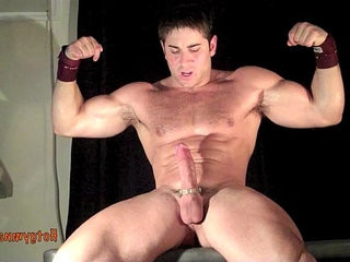 CUMMING MUSCLE STUD WITH HAIRY CHEST | cocks   cums   hairy guy   muscular   stud