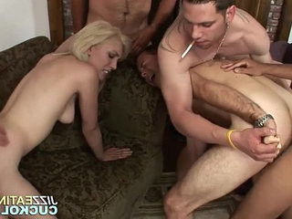 Couple in bisexual gangbang | bisexual  couple  forced  gangbang