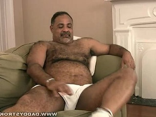 Stocky daddy plays with dick   daddy  dicks  feet top