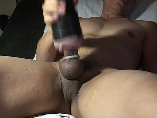 Relaxing on the couch and jerking off with my toy. | jerking  toys twinks