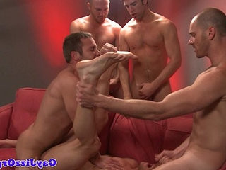 Troy Collins gets a facial at a gay orgy | facial top   gays tube   getting   orgy tube