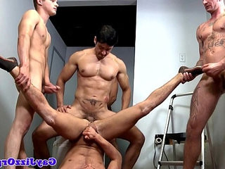 Group of hunks on ass drill session | ass collection   group film   hunks best   orgy tube   session