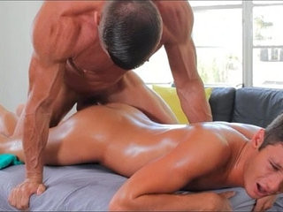 GayRoom Pretty boy gets oiled up and fucked by manly man | boys   cumshots   fucking   getting   man movie   pretty