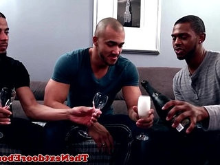 Interracial gay threeway with jerking climax | gays tube  group film  interracial  jerking  threeway