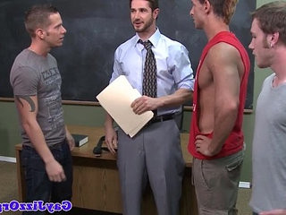 Teacher gets bukkake from student jocks | banged   bukkake   getting   jocks   student   teacher